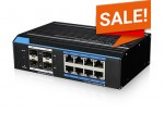 BroxNet BRX581M-GE08-4GUP - 8 Ports Web Managed Gigabit PoE+ Switch with 4 Gigabit SFP Uplink ports